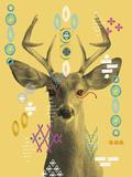 Forest Tribe IV Giclee Print by Ingrid Van Den Brand