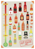 Hot Sauce Heat Chart Print by Clara Wells