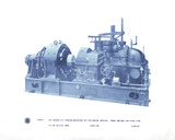Mechanical Cyanotype II Giclee Print by Chris Dunker