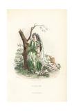 Vervain Flower Fairy, Verbena Officinalis Giclee Print by Jean Ignace Grandville