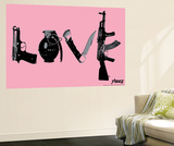 Love (Weapons) Pink Wall Mural by  Steez