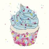 Candy Cupcake II Giclee Print by Clara Wells