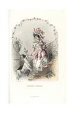 Honeysuckle Flower Fairy, Lonicera Caprifolium Giclee Print by Jean Ignace Grandville