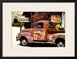 Truck - Route 66 - Gas Station - Arizona - United States Framed Photographic Print by Philippe Hugonnard