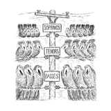 """Sopranos"", ""Tenors"", ""Basses"" - New Yorker Cartoon Premium Giclee Print by Edward Koren"