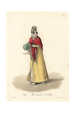 Seller of Cosmetics, Paris, 19th Century Giclee Print by Louis-Marie Lante