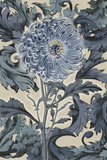 Indigo Deco Flower I Giclee Print by Emma Hill