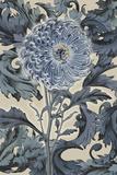 Indigo Deco Flower I Giclee Print by Emma Hill