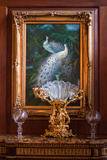 Victorian Peacock With Antiques Photo