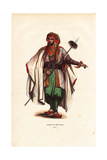 Mount Lebanese Man Wearing Turban, Cloak, Carrying a Spear Giclee Print