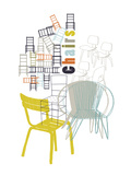 A Collection of Chairs Giclee Print by Laure Girardin-Vissian