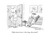 """Half a dozen brown—three large, three jumbo!"" - New Yorker Cartoon Premium Giclee Print by Danny Shanahan"