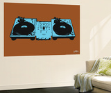 Coffin Turntables Wall Mural by  Steez