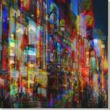 City Lights II Stretched Canvas Print by Jean-François Dupuis