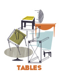 A Collection of Tables Giclee Print by Laure Girardin-Vissian