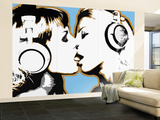 Girls Kissing Wall Mural – Large by  Steez