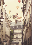 Flying Over Paris Poster by Irene Suchocki