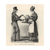 Itinerant Female Sausage Seller, Circa 1800, Paris Giclée-Druck von Carle Vernet