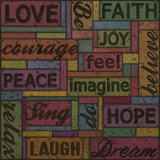 Words of Inspiration II Giclee Print by Janie Secker