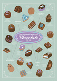 World of Chocolate Prints by Clara Wells