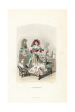 Marshmallow Flower Fairy, Althaea Officinalis Giclee Print by Jean Ignace Grandville