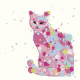 Candy Cat II Giclee Print by Clara Wells