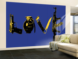 Love (Weapons) Blue Wall Mural – Large by  Steez