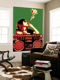 Boom Box Joint - Red/Green Wall Mural by  Steez