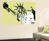 Lady Liberty Wall Mural by  Steez