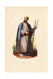 Douran Tribesman (From Current Afghanistan) in Robes Giclee Print by A. Vangauberche