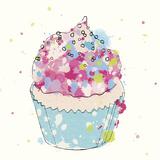 Candy Cupcake I Giclee Print by Clara Wells
