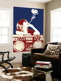 Boombox Joint - Navy/Red Wall Mural by  Steez