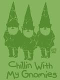 Chillin With My Gnomies Giclée-trykk av Todd Goldman