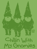 Chillin With My Gnomies Giclee Print by Todd Goldman