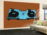 Coffin Turntables Wall Mural – Large by  Steez