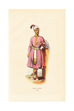 Groom of Calcutta (Kolkata) with Turban, Skirts, Slippers and Fan Giclee Print by H. Hendrickx