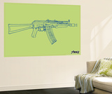 Gun Wall Mural by  Steez