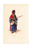 Afghan Soldier from Herat in Turban, Robes, Skirts with Musket Giclee Print