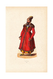 Persian Nobleman in Fur Hat, Fur-Lined Coat with Frogging Giclee Print