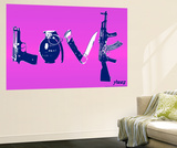 Love (Weapons) Purple Wall Mural by  Steez