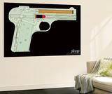 Handgunner - Orange Wall Mural by  Steez