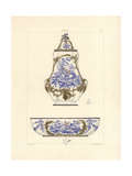Wall Fountain and Bowl Giclee Print by Edouard Garnier