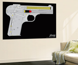 Handgunner - Yellow Wall Mural by  Steez
