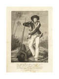 Stedman Standing over the Corpse of a Rebel Slave Giclee Print by John Gabriel Stedman