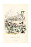 The Return of the Flower Fairies Giclee Print by Jean Ignace Grandville