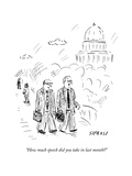 """How much speech did you take in last month?"" - New Yorker Cartoon Premium Giclee Print by David Sipress"