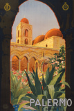 Palermo Sicily Tourism Travel Vintage Ad Poster Posters