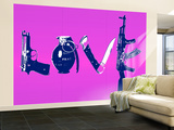 Love (Weapons) Purple Wall Mural – Large by  Steez