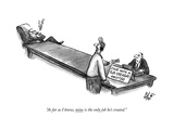 """""""As far as I know, mine is the only job he's created."""" - New Yorker Cartoon Premium Giclee Print by Frank Cotham"""
