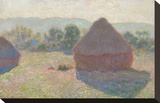 Haystacks, Midday, 1890 Stretched Canvas Print by Claude Monet